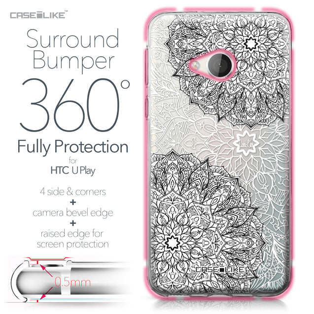 HTC U Play case Mandala Art 2093 Bumper Case Protection | CASEiLIKE.com