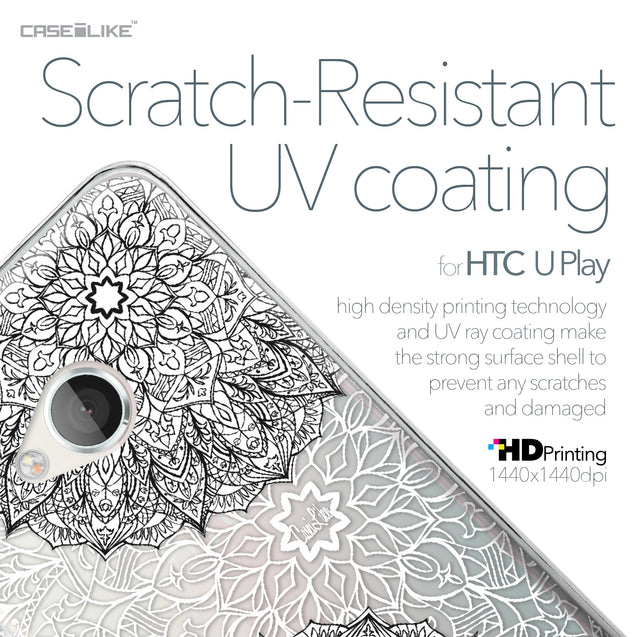 HTC U Play case Mandala Art 2093 with UV-Coating Scratch-Resistant Case | CASEiLIKE.com