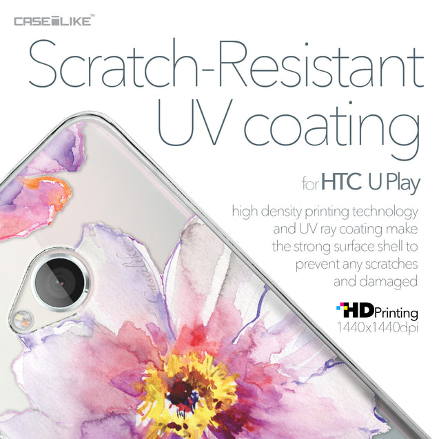 HTC U Play case Watercolor Floral 2231 with UV-Coating Scratch-Resistant Case | CASEiLIKE.com