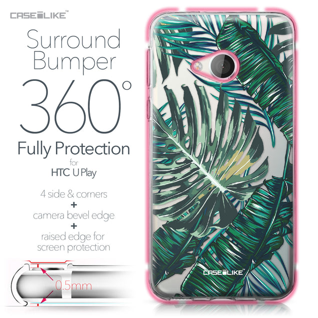HTC U Play case Tropical Palm Tree 2238 Bumper Case Protection | CASEiLIKE.com