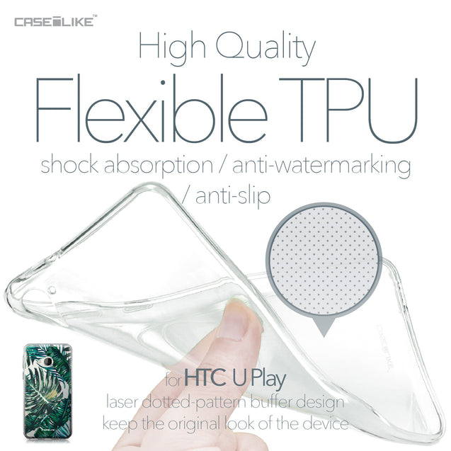 HTC U Play case Tropical Palm Tree 2238 Soft Gel Silicone Case | CASEiLIKE.com