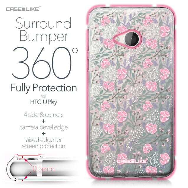 HTC U Play case Flowers Herbs 2246 Bumper Case Protection | CASEiLIKE.com