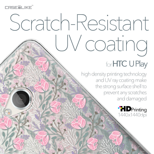 HTC U Play case Flowers Herbs 2246 with UV-Coating Scratch-Resistant Case | CASEiLIKE.com