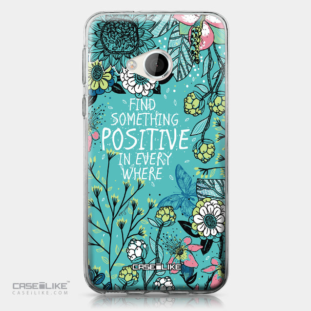 HTC U Play case Blooming Flowers Turquoise 2249 | CASEiLIKE.com
