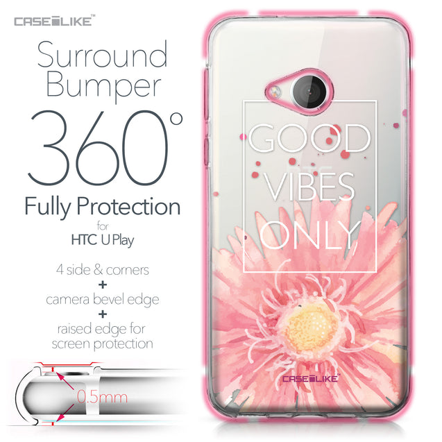 HTC U Play case Gerbera 2258 Bumper Case Protection | CASEiLIKE.com