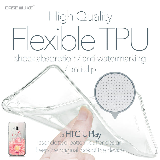 HTC U Play case Gerbera 2258 Soft Gel Silicone Case | CASEiLIKE.com
