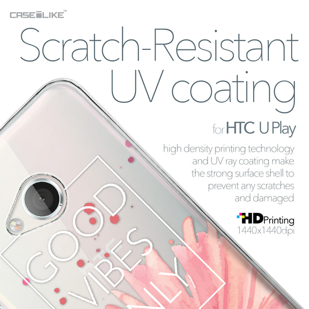 HTC U Play case Gerbera 2258 with UV-Coating Scratch-Resistant Case | CASEiLIKE.com
