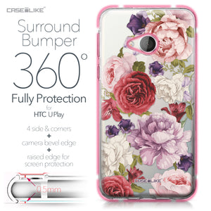 HTC U Play case Mixed Roses 2259 Bumper Case Protection | CASEiLIKE.com