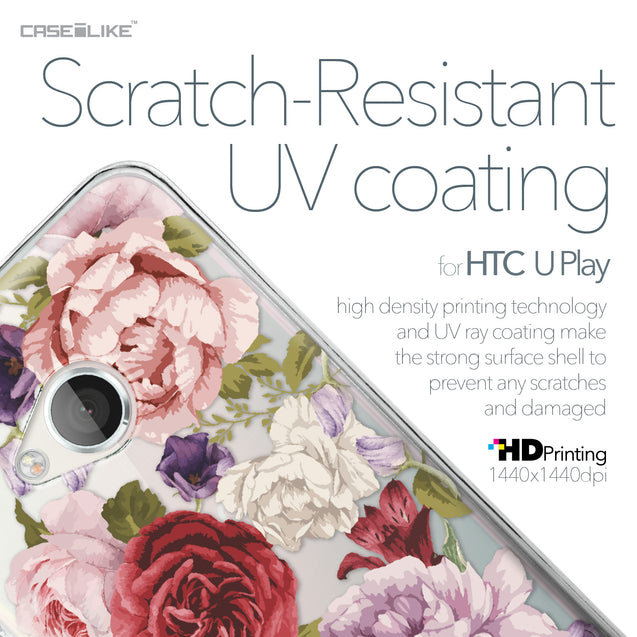 HTC U Play case Mixed Roses 2259 with UV-Coating Scratch-Resistant Case | CASEiLIKE.com