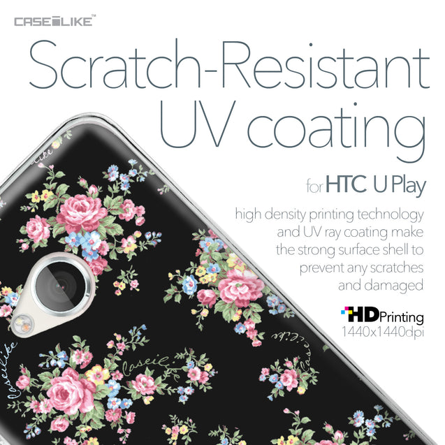 HTC U Play case Floral Rose Classic 2261 with UV-Coating Scratch-Resistant Case | CASEiLIKE.com