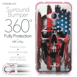 HTC U Play case Art of Skull 2532 Bumper Case Protection | CASEiLIKE.com