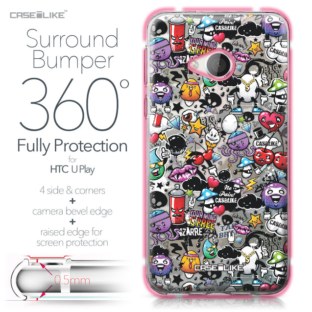 HTC U Play case Graffiti 2703 Bumper Case Protection | CASEiLIKE.com