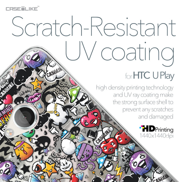 HTC U Play case Graffiti 2703 with UV-Coating Scratch-Resistant Case | CASEiLIKE.com