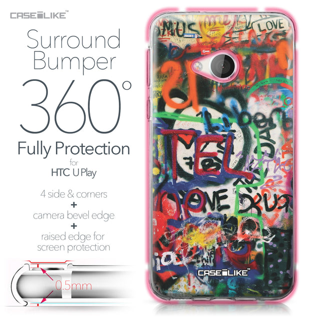 HTC U Play case Graffiti 2721 Bumper Case Protection | CASEiLIKE.com
