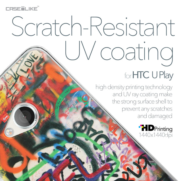 HTC U Play case Graffiti 2721 with UV-Coating Scratch-Resistant Case | CASEiLIKE.com
