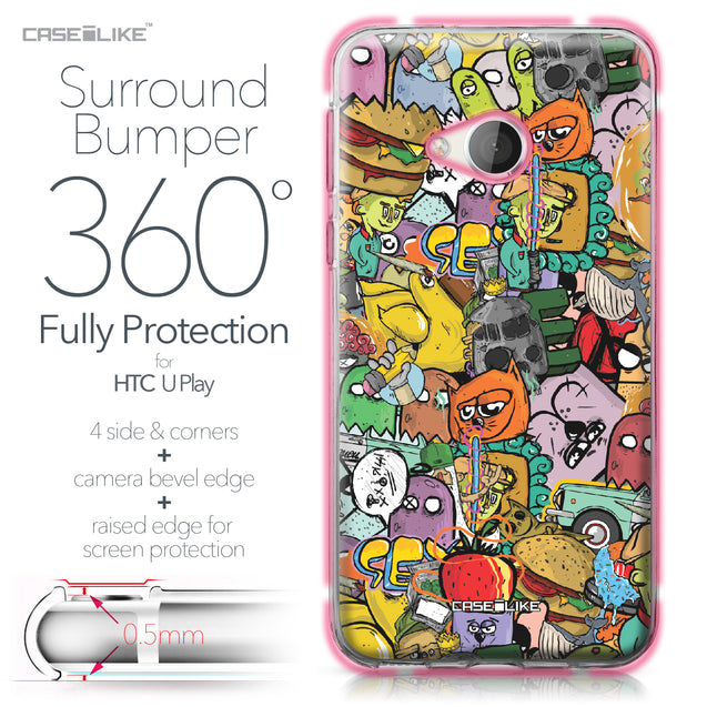 HTC U Play case Graffiti 2731 Bumper Case Protection | CASEiLIKE.com
