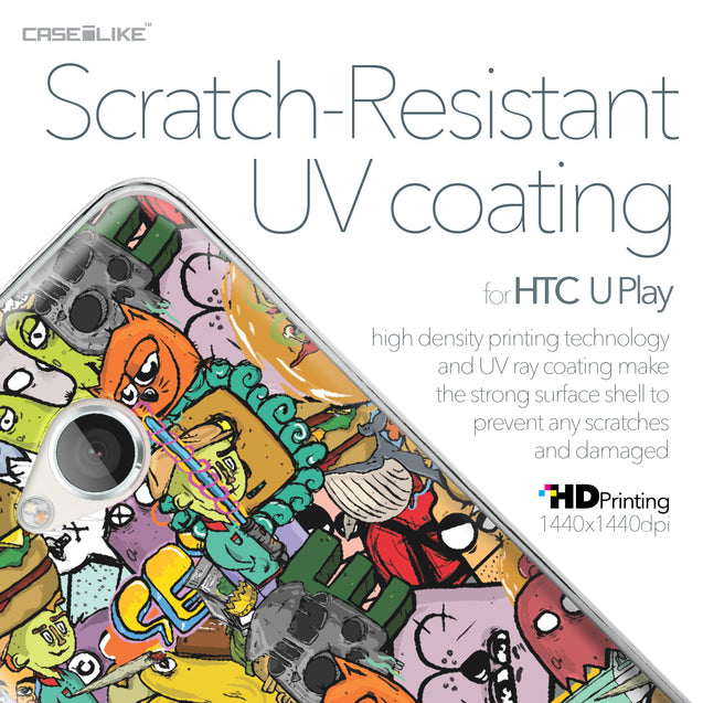 HTC U Play case Graffiti 2731 with UV-Coating Scratch-Resistant Case | CASEiLIKE.com
