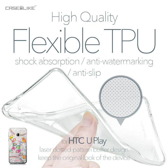 HTC U Play case Owl Graphic Design 3316 Soft Gel Silicone Case | CASEiLIKE.com