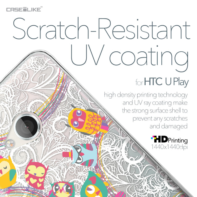 HTC U Play case Owl Graphic Design 3316 with UV-Coating Scratch-Resistant Case | CASEiLIKE.com