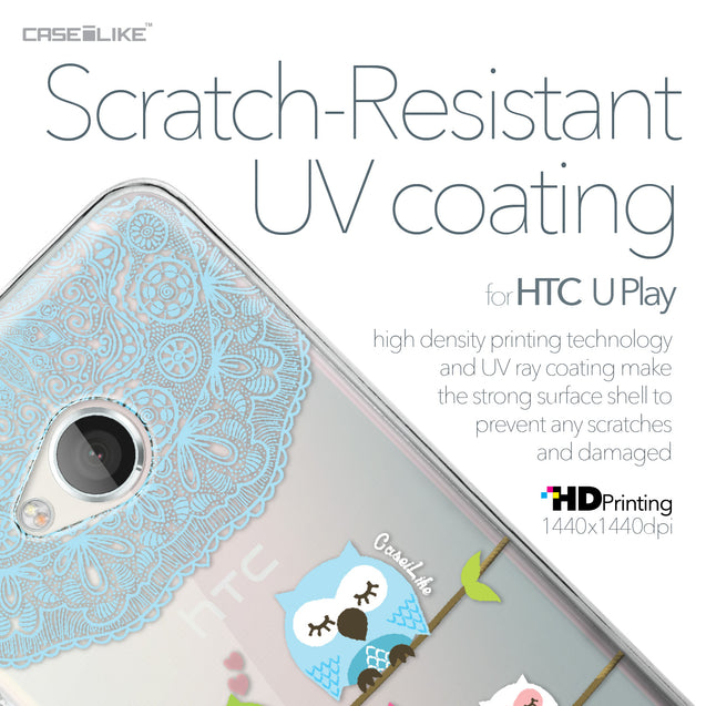 HTC U Play case Owl Graphic Design 3318 with UV-Coating Scratch-Resistant Case | CASEiLIKE.com