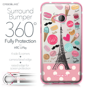 HTC U Play case Paris Holiday 3904 Bumper Case Protection | CASEiLIKE.com