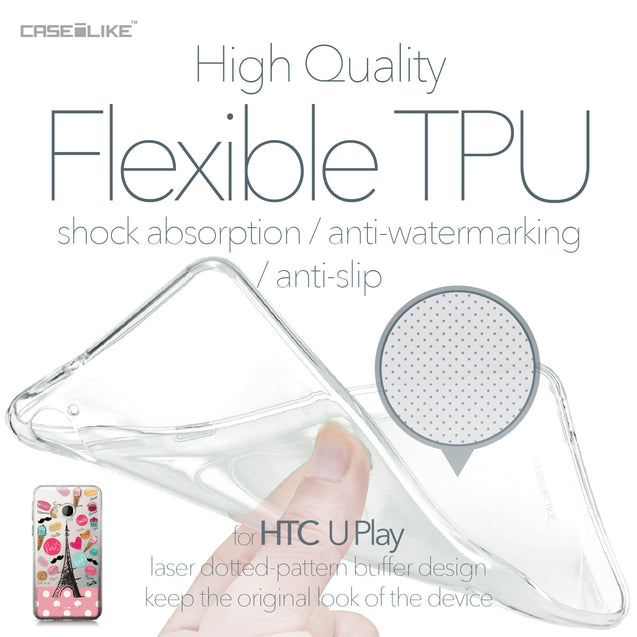 HTC U Play case Paris Holiday 3904 Soft Gel Silicone Case | CASEiLIKE.com