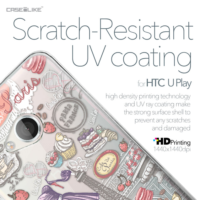 HTC U Play case Paris Holiday 3907 with UV-Coating Scratch-Resistant Case | CASEiLIKE.com
