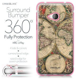HTC U Play case World Map Vintage 4607 Bumper Case Protection | CASEiLIKE.com