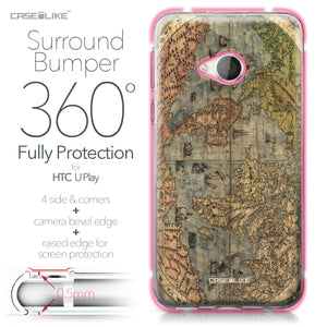 HTC U Play case World Map Vintage 4608 Bumper Case Protection | CASEiLIKE.com