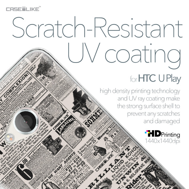HTC U Play case Vintage Newspaper Advertising 4818 with UV-Coating Scratch-Resistant Case | CASEiLIKE.com