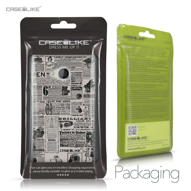 HTC U Play case Vintage Newspaper Advertising 4818 Retail Packaging | CASEiLIKE.com