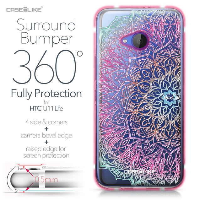 HTC U11 Life case Mandala Art 2090 Bumper Case Protection | CASEiLIKE.com
