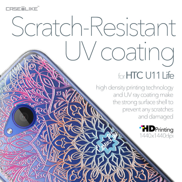 HTC U11 Life case Mandala Art 2090 with UV-Coating Scratch-Resistant Case | CASEiLIKE.com