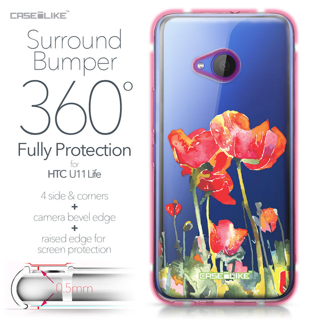 HTC U11 Life case Watercolor Floral 2230 Bumper Case Protection | CASEiLIKE.com