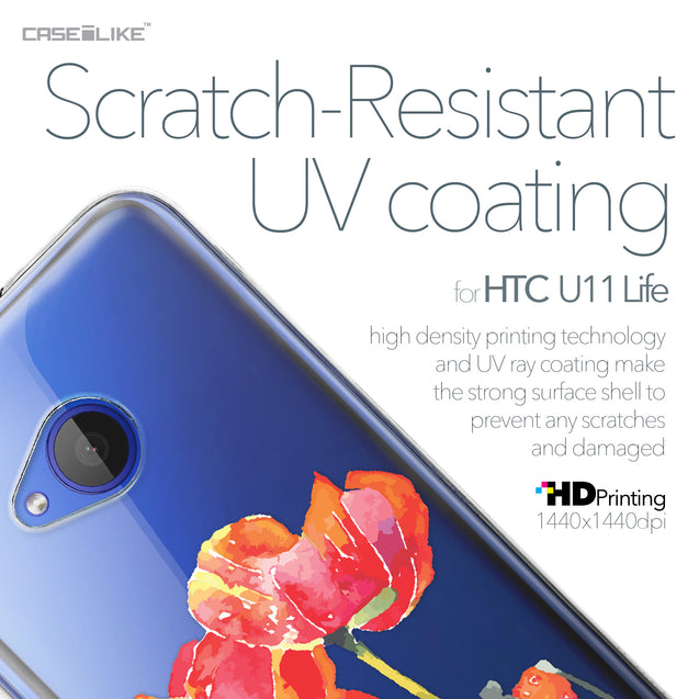 HTC U11 Life case Watercolor Floral 2230 with UV-Coating Scratch-Resistant Case | CASEiLIKE.com
