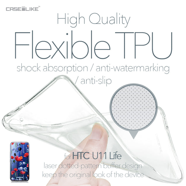 HTC U11 Life case Watercolor Floral 2234 Soft Gel Silicone Case | CASEiLIKE.com
