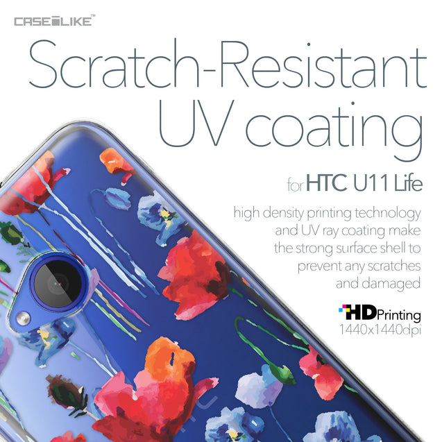 HTC U11 Life case Watercolor Floral 2234 with UV-Coating Scratch-Resistant Case | CASEiLIKE.com