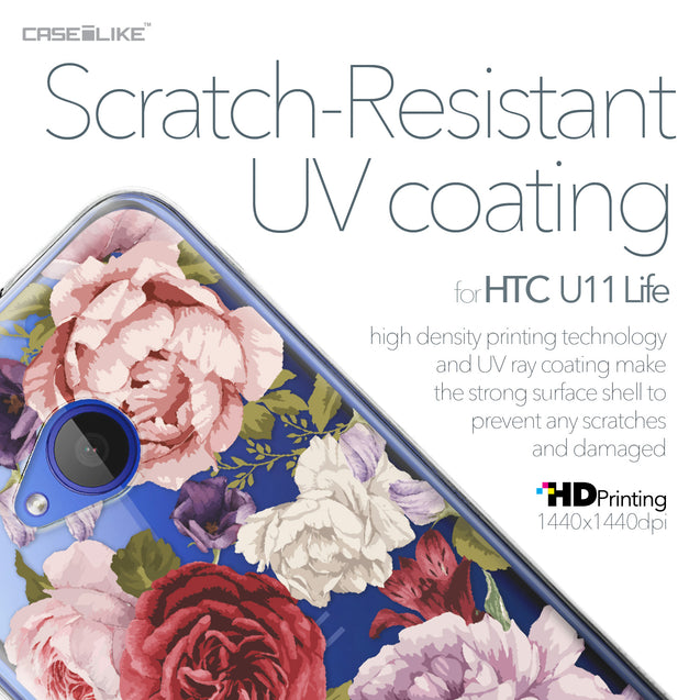 HTC U11 Life case Mixed Roses 2259 with UV-Coating Scratch-Resistant Case | CASEiLIKE.com