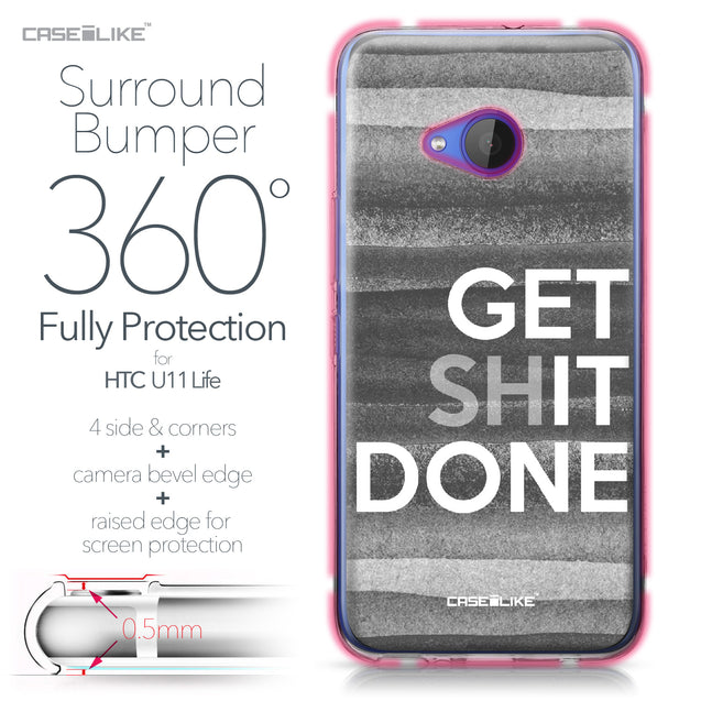 HTC U11 Life case Quote 2429 Bumper Case Protection | CASEiLIKE.com