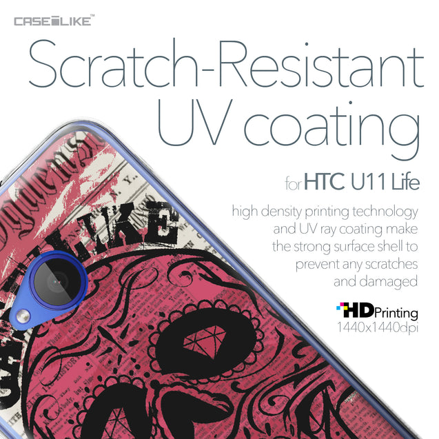 HTC U11 Life case Art of Skull 2523 with UV-Coating Scratch-Resistant Case | CASEiLIKE.com
