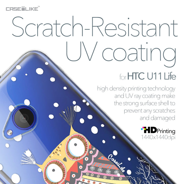 HTC U11 Life case Owl Graphic Design 3317 with UV-Coating Scratch-Resistant Case | CASEiLIKE.com
