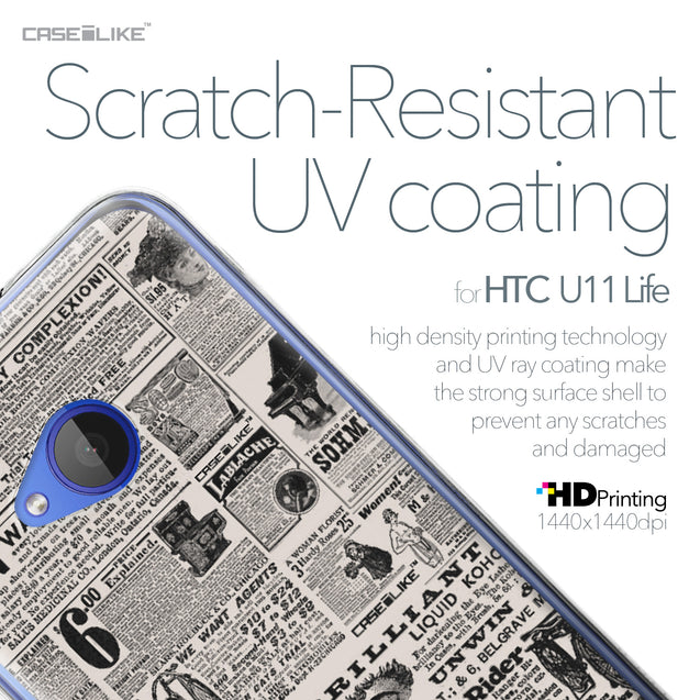 HTC U11 Life case Vintage Newspaper Advertising 4818 with UV-Coating Scratch-Resistant Case | CASEiLIKE.com
