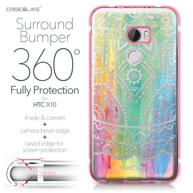 HTC One X10 case Indian Line Art 2064 Bumper Case Protection | CASEiLIKE.com