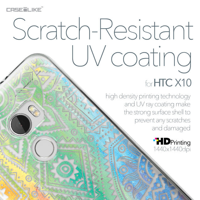 HTC One X10 case Indian Line Art 2064 with UV-Coating Scratch-Resistant Case | CASEiLIKE.com