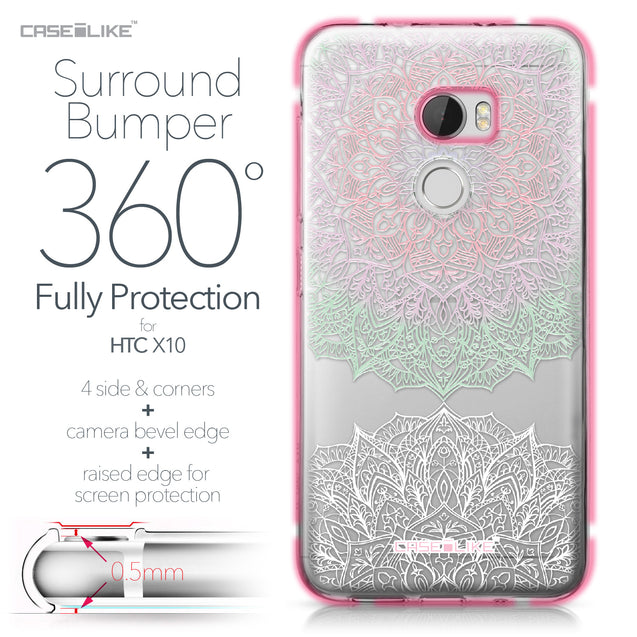HTC One X10 case Mandala Art 2092 Bumper Case Protection | CASEiLIKE.com