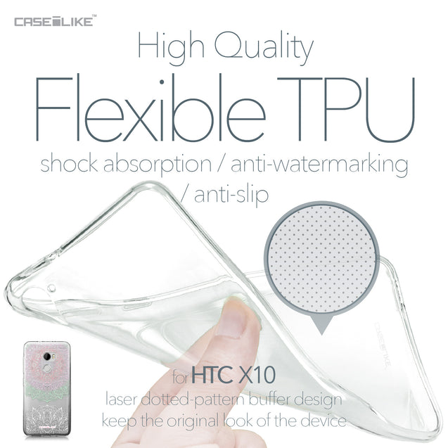 HTC One X10 case Mandala Art 2092 Soft Gel Silicone Case | CASEiLIKE.com