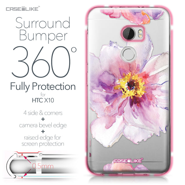 HTC One X10 case Watercolor Floral 2231 Bumper Case Protection | CASEiLIKE.com