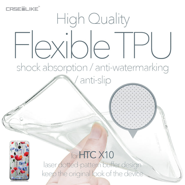 HTC One X10 case Watercolor Floral 2234 Soft Gel Silicone Case | CASEiLIKE.com