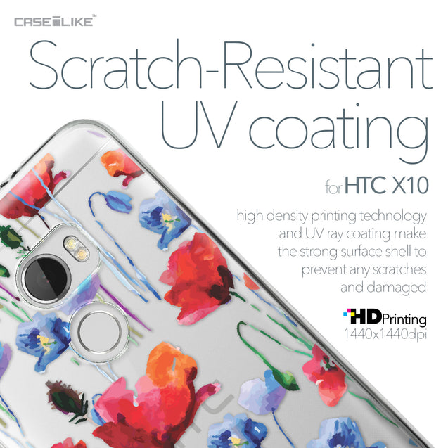 HTC One X10 case Watercolor Floral 2234 with UV-Coating Scratch-Resistant Case | CASEiLIKE.com