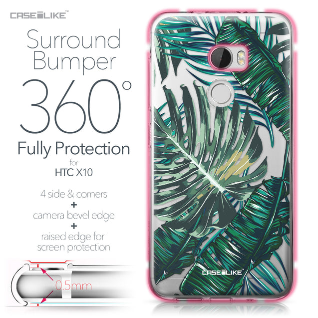 HTC One X10 case Tropical Palm Tree 2238 Bumper Case Protection | CASEiLIKE.com